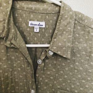 Steven Alan light green button down shirt Small